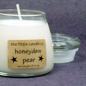 Soy Jar Candle // Honeydew Pear // Highly Scented Container Candle // Mother's Day Gift // Wedding Favor // Primitive Home Decor