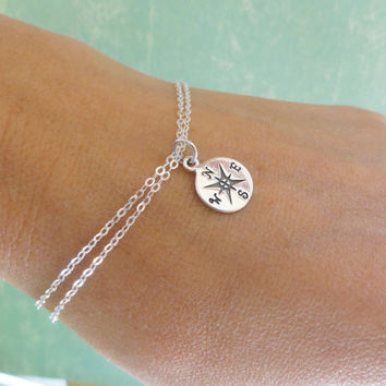 Fashion Women Compass Jewelry Stainless Steel Compass Bracelets For Women 18K Gold/Silver Plated Bracelet&Bangles Gold