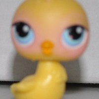 Chick #13 (Yellow, Blue Eyes, orange beak) - Littlest Pet Shop (Retired) Collector Toy - LPS Collectible Replacement Single Figure - Loose (OOP Out of Package & Print)