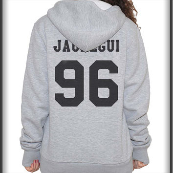Jauregui 96 Black ink on back Unisex Pullover Hoodie S to 3XL