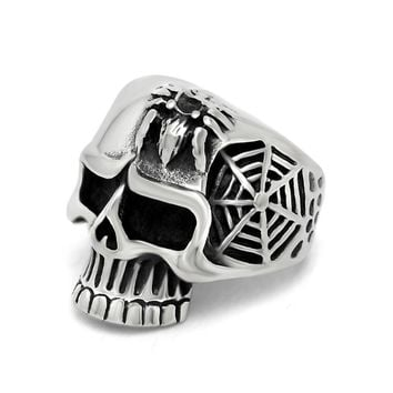 Gift Shiny New Arrival Stylish Jewelry Vintage Club Men Strong Character Creative Skull Ring [6526802115]