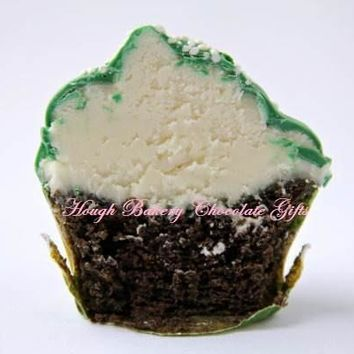 Chocolate Dipped St. Patrick Day Mini Cream Cheese Cupcakes