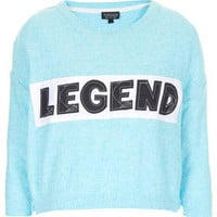 Knitted Legend Crop Sweat - Sale  - Sale & Offers
