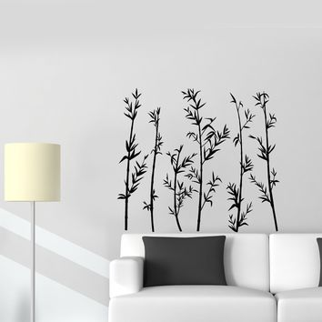 Vinyl Wall Decal Bamboo Forest Nature Bedroom Home Interior Stickers Mural (ig5495)