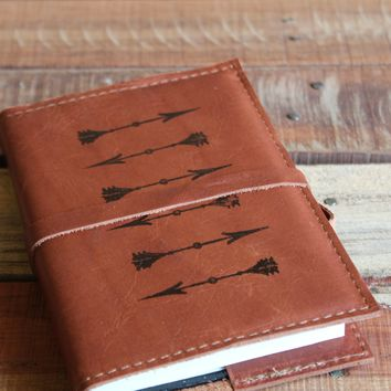 Horizontal Arrows Leather Journal