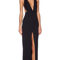 SOLACE London Irvin Maxi Dress in Black