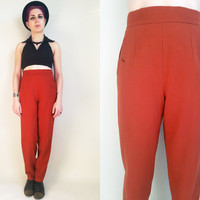 70s Clothing Orange Pants Vintage 70s Pants Vintage Pants High Waisted Pants Vintage Dress Pants intage Wool Pants Womens Size 6 or 8