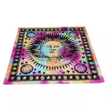 Mandala Beach/Yoga Blanket (Sun & Moon)