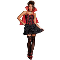 Dreamgirl Womens The Lady Is A Vamp Halloween Party Vampire Costume