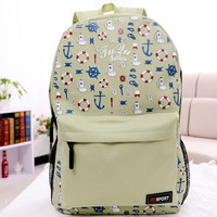 Fashion Carton Anchor Sport Backpack