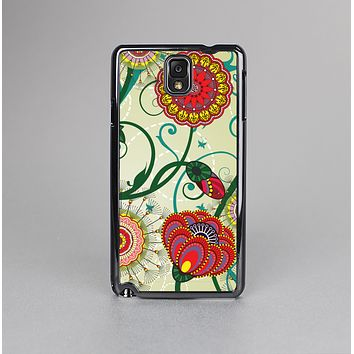 The Vintage Green Floral Vector Pattern Skin-Sert Case for the Samsung Galaxy Note 3