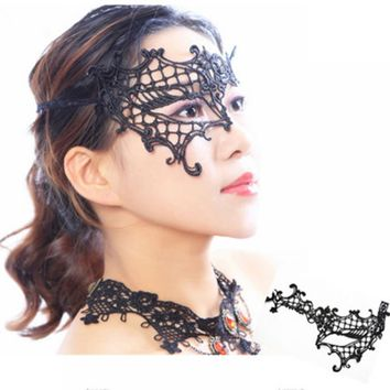 Women Sexy Lace Monocular Eye Face Mask Masquerade Ball Fancy Party Dress Cool
