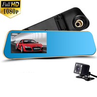 Newest Car Camera Car Dvr Blue Review Mirror Digital Video Recorder Auto Registrator Camcorder Full HD 1080P Camera Car Dvr