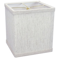 "0-006147>Rectangular Drum Lampshade (6x6) (6x6) x 7"" Textured Oatmeal"