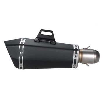 51mm Super Cool Black Stainless Steel Exhaust Muffler Pipe for Motorcycles ATV Universal
