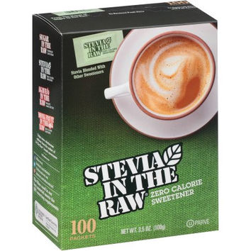 Stevia In The Raw 100% Natural Zero Calorie Sweetener - 100 ct each - Case of 12
