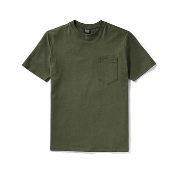 OUTFITTER POCKET TEE - OTTER GREEN