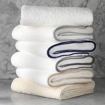 Cairo Towels with Straight Piping by Matouk