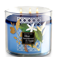 Blue Sandalwood & Sage 3-Wick Candle   Bath And Body Works