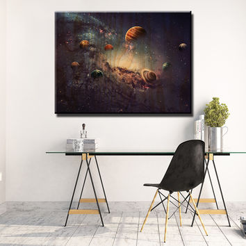 Solar System Wooden Wall Decor