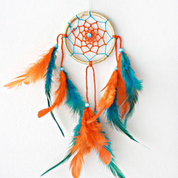 Dreamcatcher, Dream Catcher, Colourful Dreamcatcher, Automobile Dreamcatcher, Coloured Dreamcatcher, Handmade, Boho,  Car Mirror Hanging