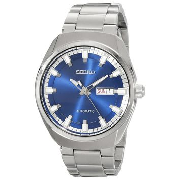 Seiko SNKN41 Men's Recraft Blue Dial Steel Bracelet Automatic Day Date Watch