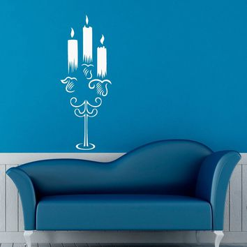 Chandelier Candelabrum Wall Decal Vinyl Stickers Modern Interior Home Design Art Murals Bedroom Wall Graphics Decor Made in US