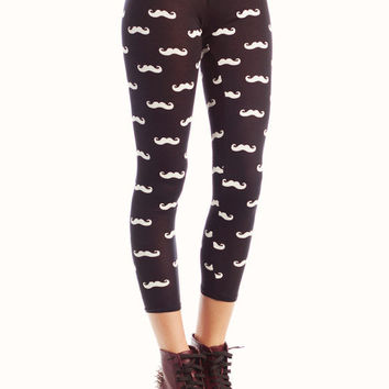 mustache-leggings BLACK - GoJane.com