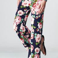 Oh So Floral! Palazzo Pants in Navy