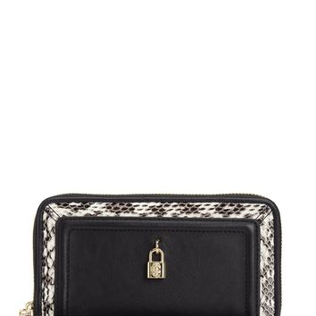 Luxe Locks Leather Tech Wristlet by Juicy Couture
