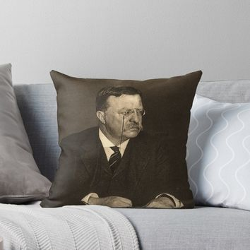 'Theodore Roosevelt 2' Throw Pillow by IMPACTEES
