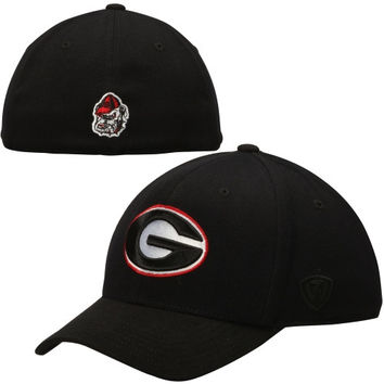 Georgia Bulldogs Top of the World Booster Memory Fit Flex Hat - Black
