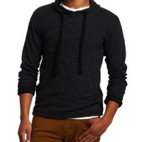 Modern Culture Men's Thermal Hooded Pullover with Printed Stripe