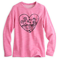 Mickey and Minnie Mouse Heart Pullover for Women
