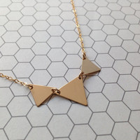 Gold filled 3 triangle necklace/ boho/ aztec/ unique jewelry/ Gift/ Personalized necklace/ Initial Necklace