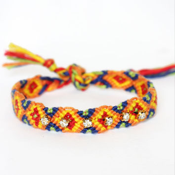 Rhinestone Friendship Bracelet - Sunkiss