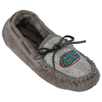 Florida Gators Women's Sweater Vamp Moccasins – Gray