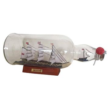 HMS Victory Model Ship in a Glass Bottle 11""