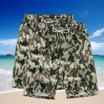 2017 Hot Selling Summer Men's Beach Shorts Beach Pants Loose Floral Shorts Quick-Drying Surfing Beach Pants