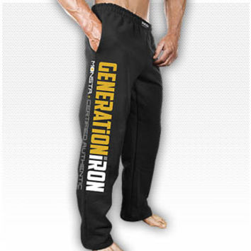 Generation Iron (OFFICIAL LICENSED) Sweatpants: Black : Monsta Clothing Co, Bodybuilding Clothing, Powerlifting Apparel, Weightlifting Shirts, Workout Clothes and MORE