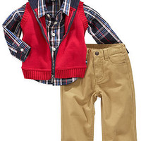 Nautica Baby Set, Baby Boys 3-Piece Vest, Shirt and Pants