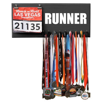 RUNNER - Marathon Medal Display, Holder, Hanger