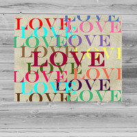 8x10 Love Wall Art, Love Printable, Home Decor, Love Entry Way Art, Instant Download