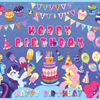 My Little Pony digital clipart, birthday party paper for kids, invitations, cards, scrapbooking, printable party decorations. PNG, 300 dpi.