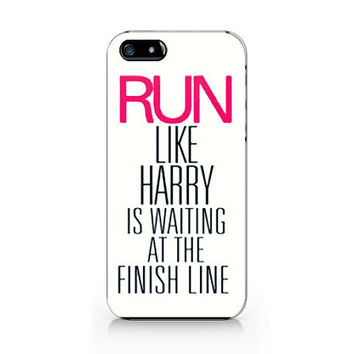 M-596 Run like harry Harry is waiting at the finish line,One direction for iPhone 4/5/5C/6 case,Samsung galaxy S4/S5/Note3 case