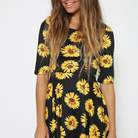 Daisy May Dress - Sunflower Print