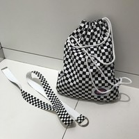 New Trend Extra Long Checkerboard Belt