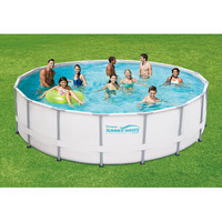 16 x 48 Metal Frame Above-Ground Easy Setup Outdoor Swimming Pool Set w Ladder & Filter