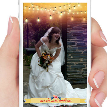 Snapchat Geofilter, Customized GeoFilters, Wedding Snapchat Filters, Bridal Party Snapchat Filter, Custom Snapchat GeoFilter