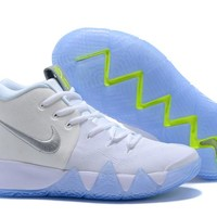 Nike Kyrie Irving 4 White/Fluorescent Green Sport Shoes US7-12